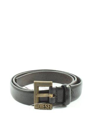Diesel Hebilla del cinturón negro elegante