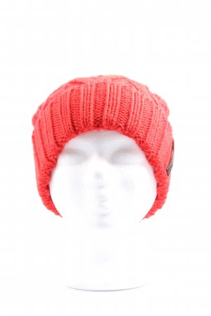 Diesel Cappello all'uncinetto rosso Stampa a tema stile casual