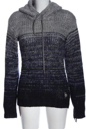 Diesel Pull en crochet bleu-gris clair moucheté style décontracté