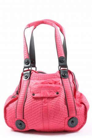 Diesel Carry Bag pink quilting pattern casual look