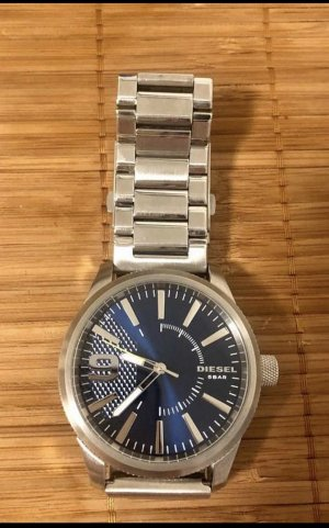 Diesel Watch With Metal Strap silver-colored