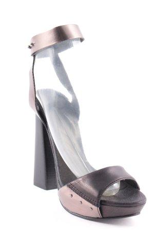 Diesel High Heel Sandaletten dunkelbraun-bronzefarben Elegant