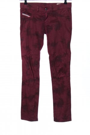 Diesel High-Waist Hose rot abstraktes Muster Casual-Look