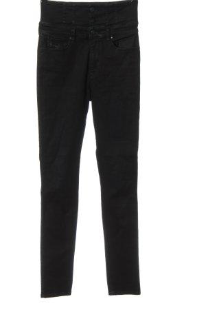 Diesel Jeans a vita alta nero stile casual