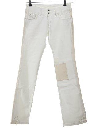 Diesel Jeansy z prostymi nogawkami w kolorze białej wełny-kremowy