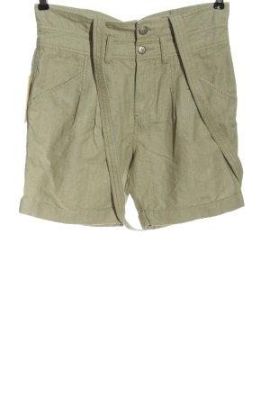 Diesel Pantaloncino a vita alta bianco sporco-turchese stampa integrale