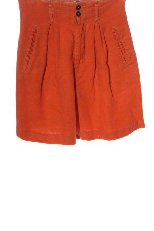 Diesel Pantaloncino a vita alta arancione chiaro-arancione Lino