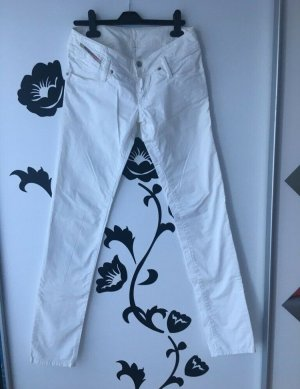 Diesel Low-Rise Trousers white
