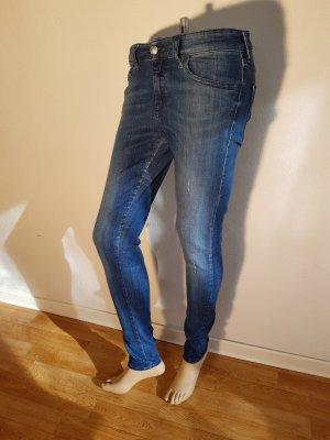 Diesel Jeans vita bassa blu Cotone