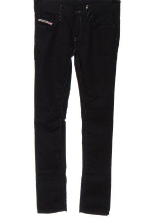 Diesel Pantalon taille basse noir style décontracté