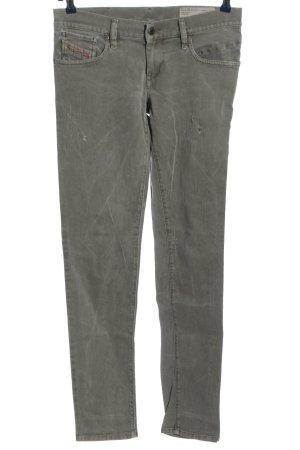 Diesel pantalón de cintura baja gris claro look casual