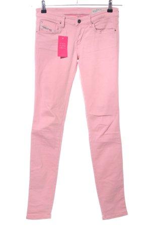 Diesel Hüfthose pink Casual-Look