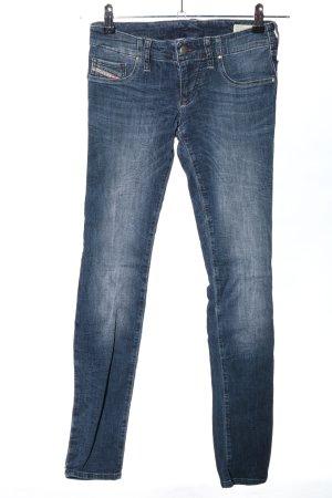 Diesel Jeans vita bassa blu stile casual
