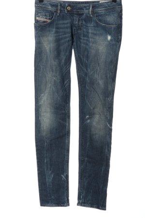 Diesel Jeans taille basse bleu style décontracté