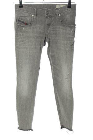 Diesel Slim Jeans hellgrau-rot Casual-Look