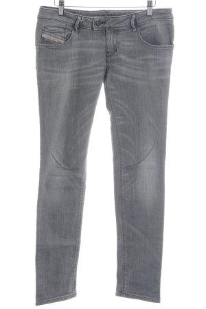 Diesel Low Rise jeans lichtgrijs-grijs casual uitstraling