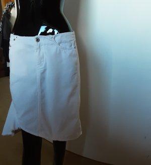 Diesel Industry Denim Skirt white