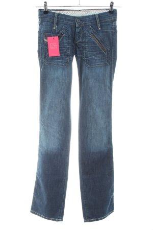 Diesel Industry Jeansy o kroju boot cut niebieski W stylu casual