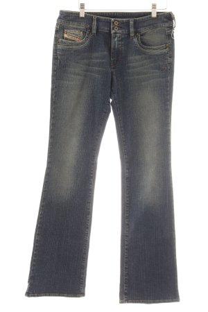 Diesel Industry Jeans svasati grigio ardesia-blu pallido applicazione del logo
