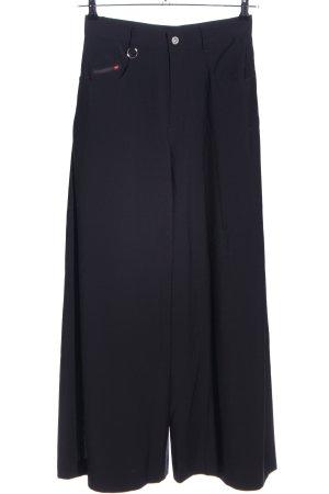 Diesel Industry Pantalone culotte nero stile casual