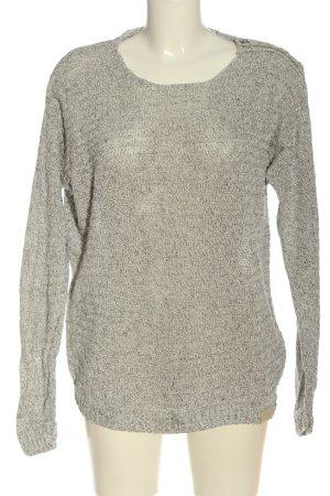 Diesel Industry Crochet Sweater light grey flecked casual look