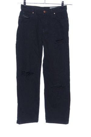 Diesel Industry Hoge taille jeans zwart casual uitstraling