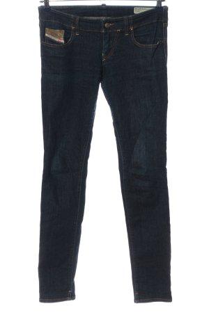Diesel Industry pantalón de cintura baja azul tejido mezclado