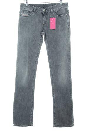 Diesel Industry pantalón de cintura baja gris tejido mezclado