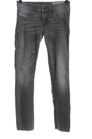 Diesel Industry Jeans vita bassa grigio chiaro stile casual