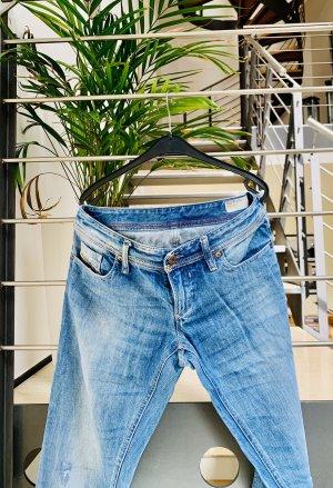 Diesel Industry Jeans im Used-Look (straight, low waist)