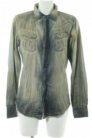 Diesel Industry Denim Shirt camel-dark blue second hand look