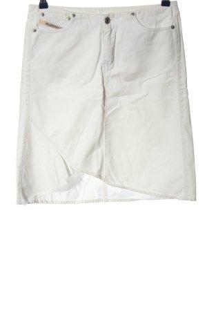 Diesel Industry Denim Skirt white casual look