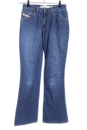 Diesel Industry Jeansowe spodnie dzwony niebieski W stylu casual