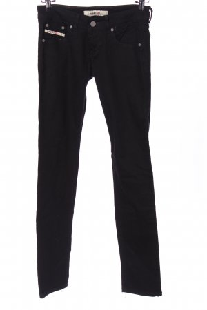 Diesel Industry Jeans a sigaretta nero stile casual