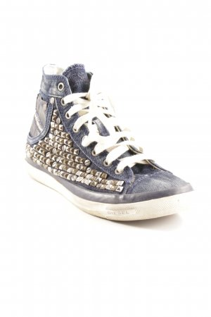 Diesel Industry Sneaker stringata blu scuro stile jeans