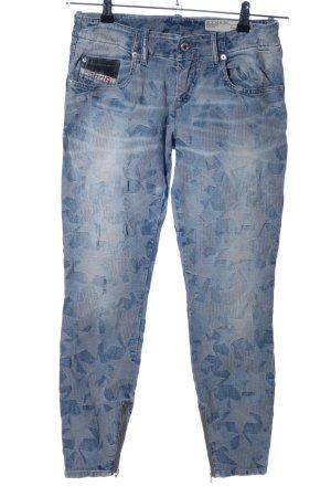 Diesel Industry Skinny Jeans blau abstraktes Muster Casual-Look