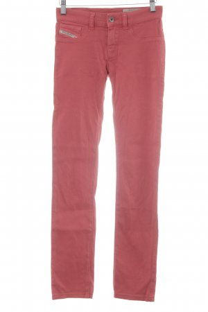Diesel Industry Skinny Jeans hellrot extravaganter Stil