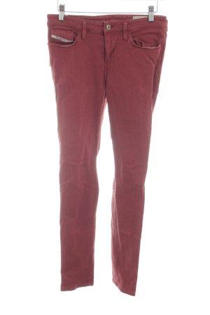 Diesel Industry Skinny Jeans rostrot Casual-Look