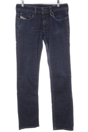 Diesel Industry Slim Jeans dunkelblau-blau Webmuster Casual-Look
