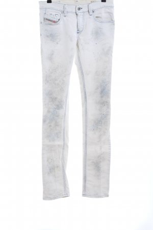 Diesel Industry Straight-Leg Jeans weiß Casual-Look