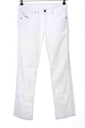 Diesel Industry Straight-Leg Jeans weiß Casual-Look