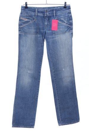 Diesel Industry Jeans coupe-droite bleu style décontracté