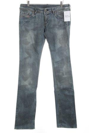 Diesel Industry Straight-Leg Jeans blau-graugrün Casual-Look