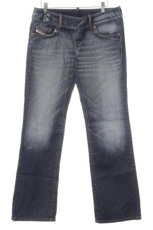 Diesel Industry Straight Leg Jeans dark blue casual look