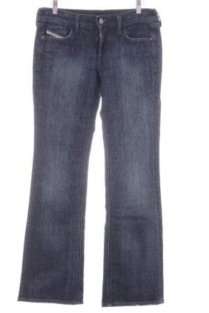 Diesel Industry Straight-Leg Jeans dunkelblau Washed-Optik