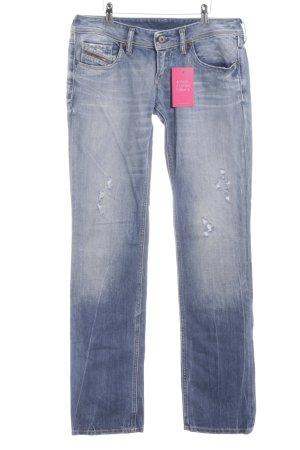 Diesel Industry Straight-Leg Jeans blau Street-Fashion-Look