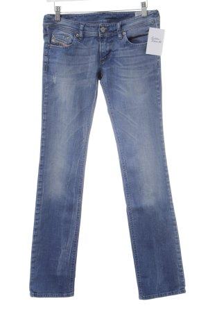Diesel Industry Straight-Leg Jeans himmelblau Logo-Applikation