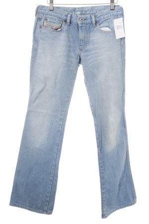 Diesel Industry Straight-Leg Jeans himmelblau Metallelemente