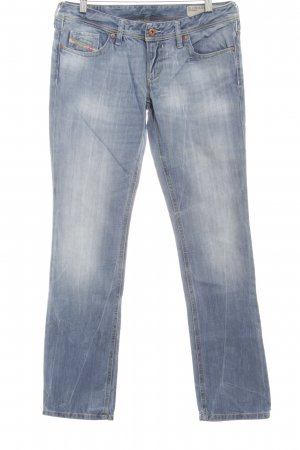 Diesel Industry Straight-Leg Jeans himmelblau-wollweiß Used-Optik