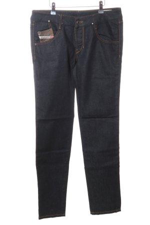 Diesel Industry Jeansy z prostymi nogawkami czarny W stylu casual